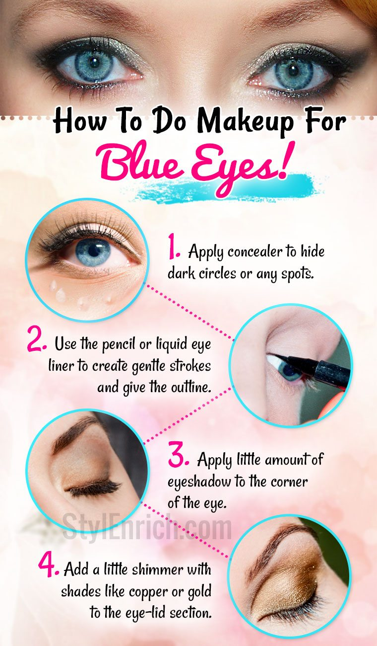 Makeup For Blue Eyes To Define The Look And Shade Of The Eyes