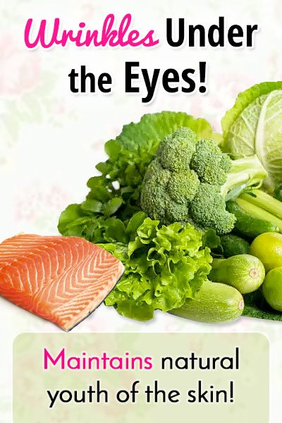 Balanced Diet to Get Rid of Under Eye Wrinkles