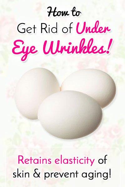 Egg White to Get Rid of Under Eye Wrinkles