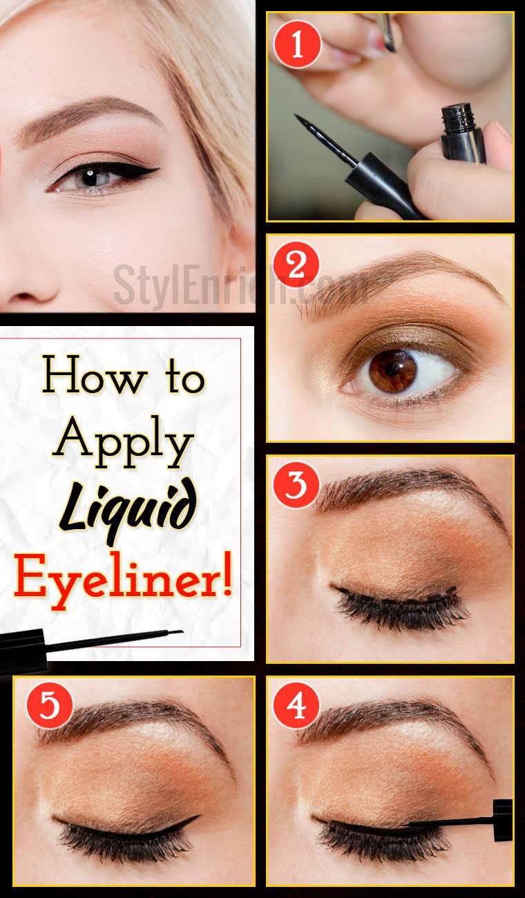 Liquid Eyeliner : How To Apply Eyeliner With Perfection!