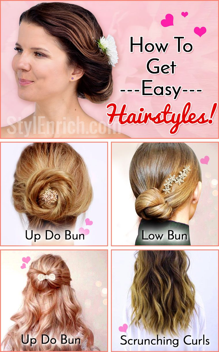 How to get easy hairstyles