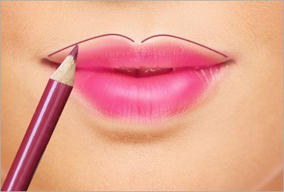 Use a darker shade of lip liner