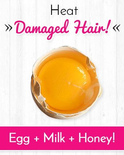 Egg Shampoo to Repair Heat Damaged Hair
