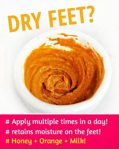Honey, Orange and Milk to Fix Dry Feet