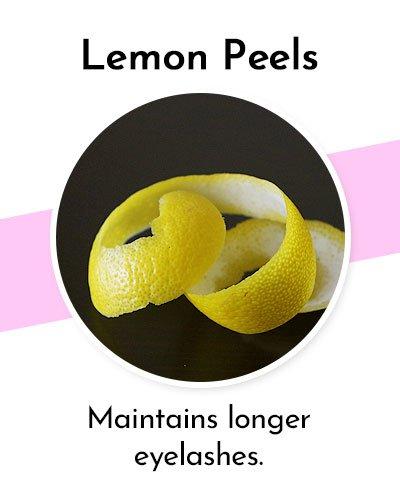 Lemon Peels to Grow Longer Eyelashes