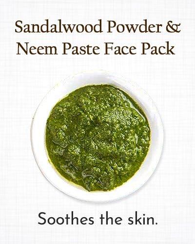 Turmeric, Sandalwood, and Neem Paste Face Pack
