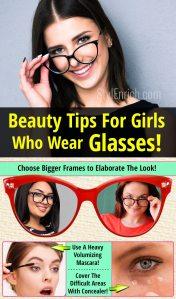 Beauty tips for girls who wear glasses