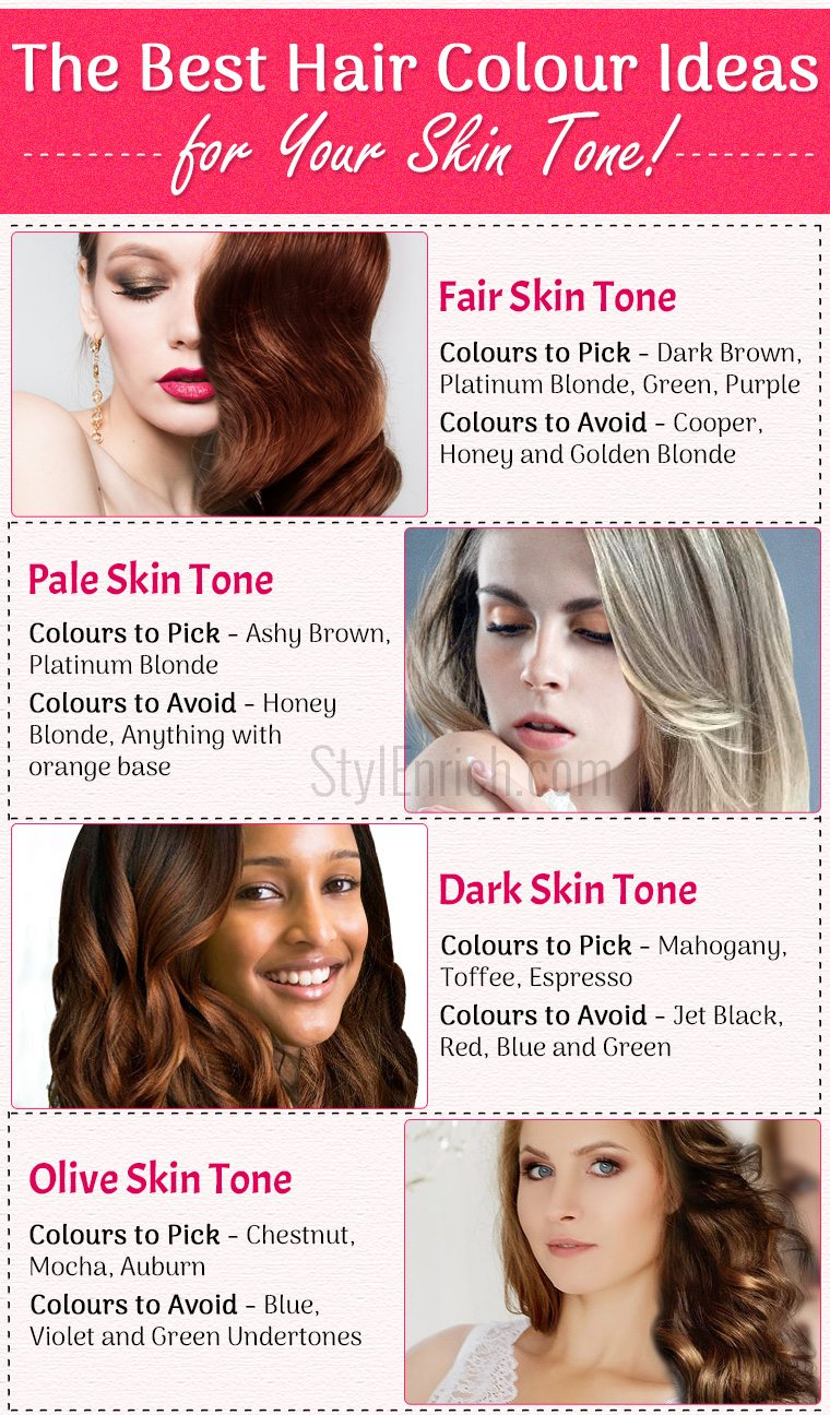Hair Colors For Your Skin Tone Best Ideas To Choose The Right Hair