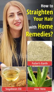 How to straighten your hair with home remedies