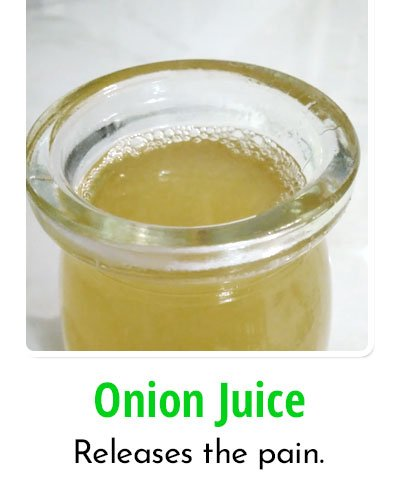 Onion Juice for Toothache