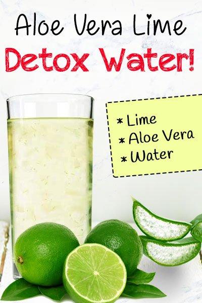 Aloe Vera Lime Detox water