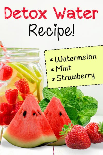 Watermelon, Mint and Strawberry Detox Water