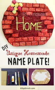 DIY Homemade Name Plate