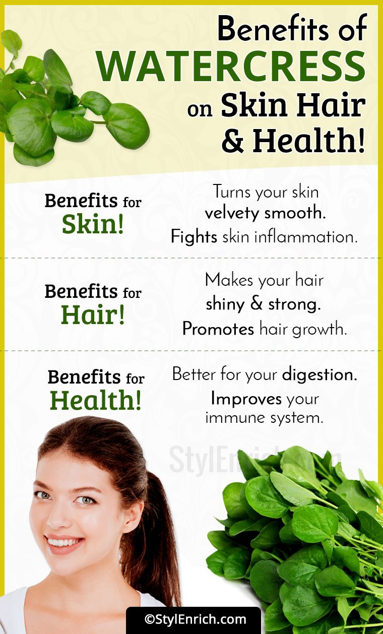 Watercress Benefits for Skin, Hair and Health