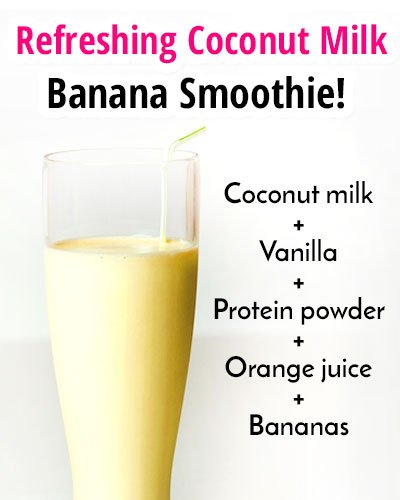 Coconut Milk-Banana Smoothie