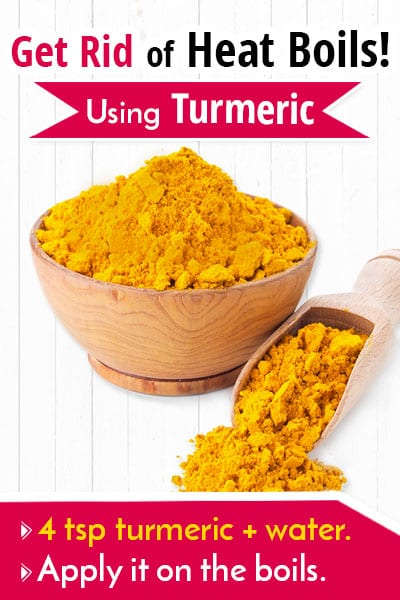 Turmeric To Get Rid Of a Heat Boil