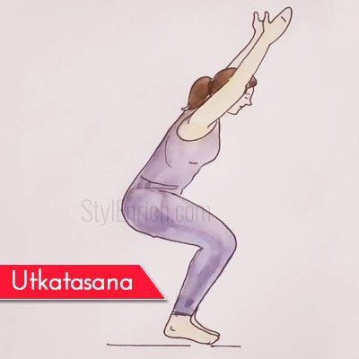 Utkatasana to Get Rid Of Belly Fat