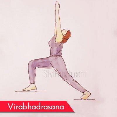 Virabhadrasana to Get Rid Of Belly Fat