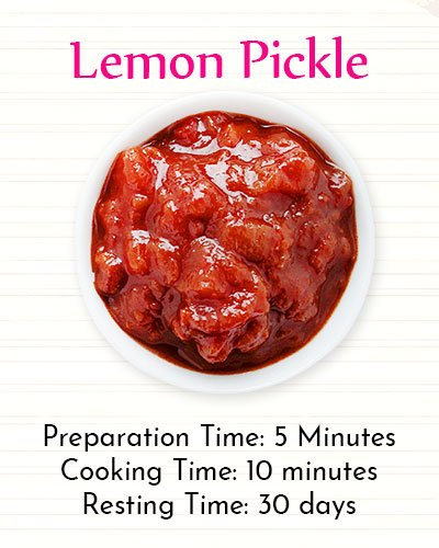 Recipe Of Lemon Pickle