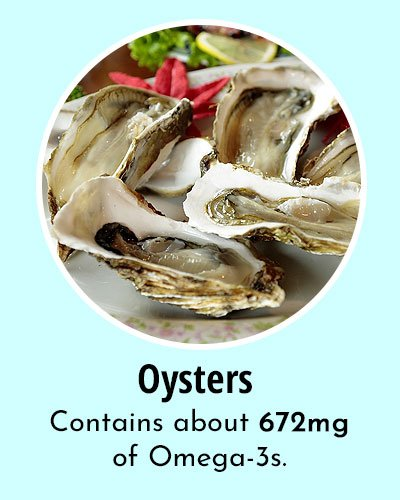 Oysters Omega 3 Rich Foods