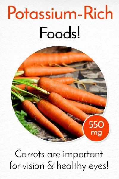 Potassium Rich Carrots