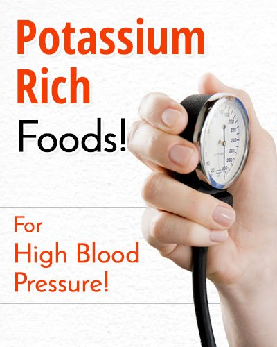 Potassium Rich Foods for High Blood Pressure