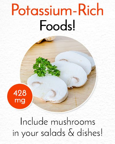 Potassium Rich Mushrooms
