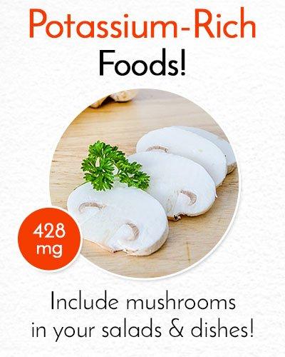 Potassium Rich Mushrooms