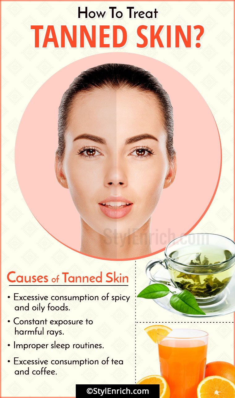 Treatment Of Tanned Skin