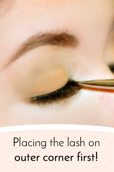How to put extension on your lashes