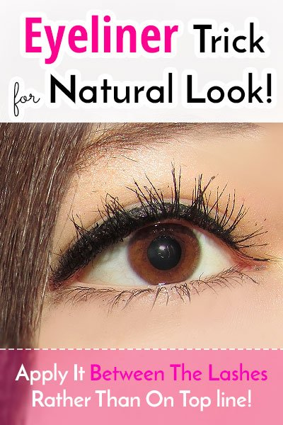Natural Look By Tight-Lining The Liner