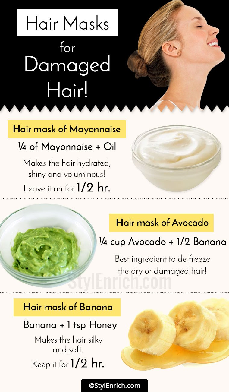 DIY Hair Masks For Damaged Hair