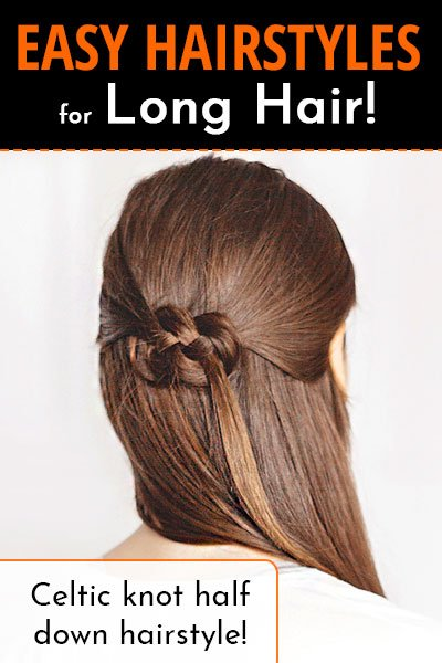 Celtic Knot Half Down Hairstyle