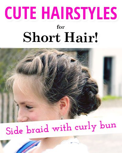 Side Braid With a Low Curly Bun