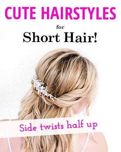 Side Twists Half Up