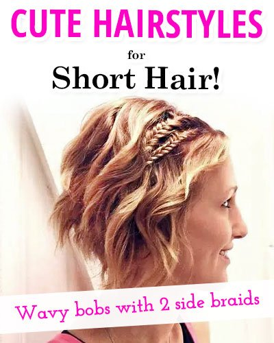 Wavy Bobs With Two Side Braids