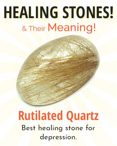 Rutilated Quartz Healing Stone