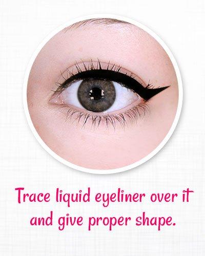 Use a liquid eyeliner