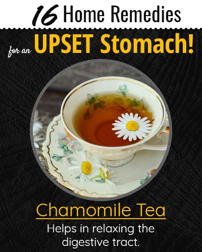 Chamomile Tea For Upset Stomach