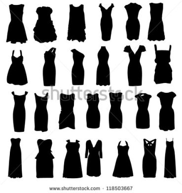 stock-photo-set-of-dresses-silhouette-isolated-on-white-background-raster-version-118503667-copy