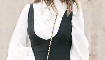 277c346515 From Grandma with Love    Black Jumpsuit + Statement Sleeve Blouse