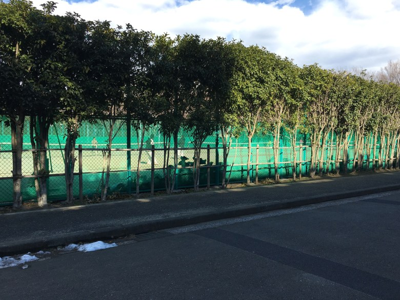 tennis court komabano artificial grass