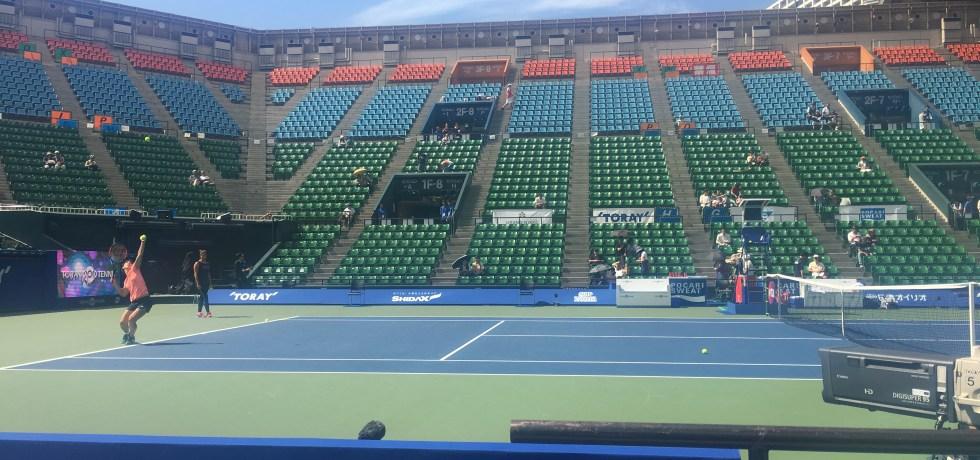 ariake colosseum tennis court hard