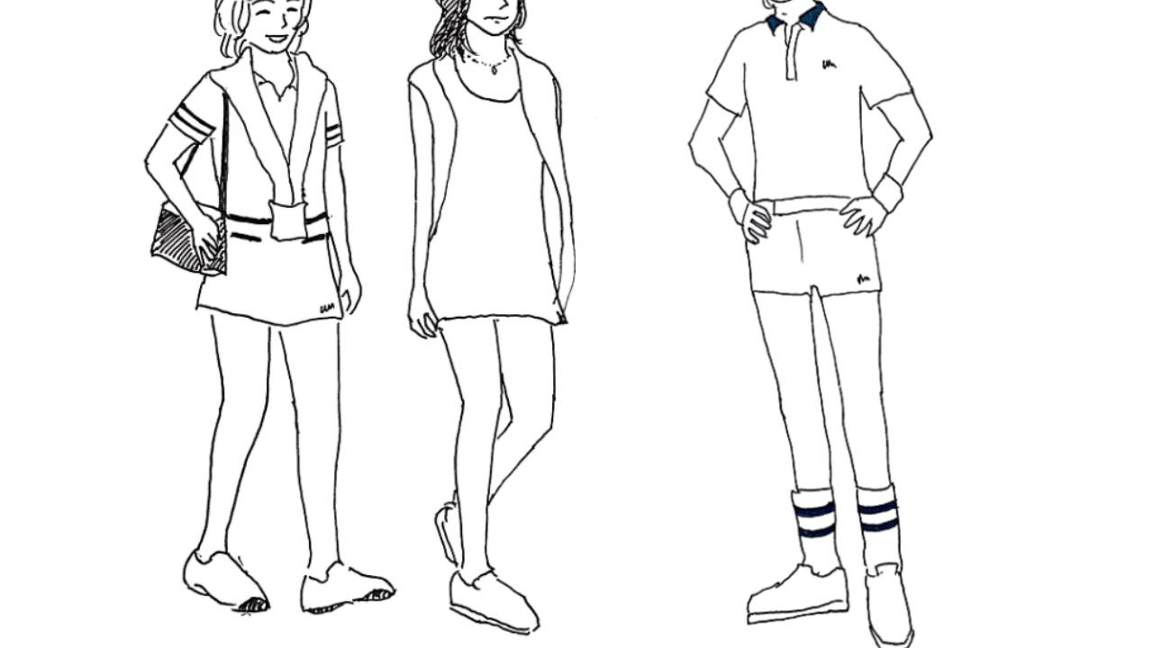 style of tennis college tennis student 80s 90s 1