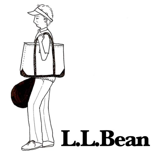 style of tennis ll bean tote guy