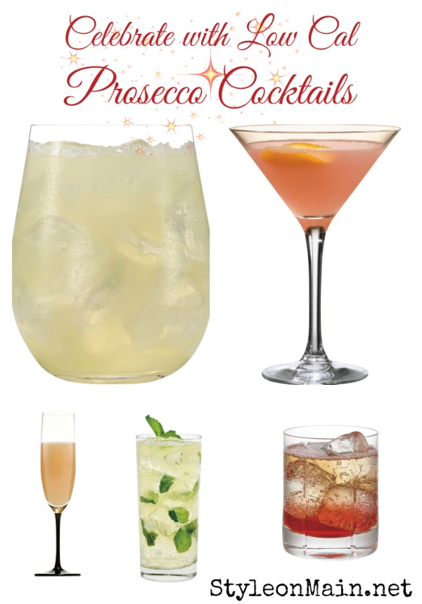 Low Calorie Prosecco Cocktails for the Holidays
