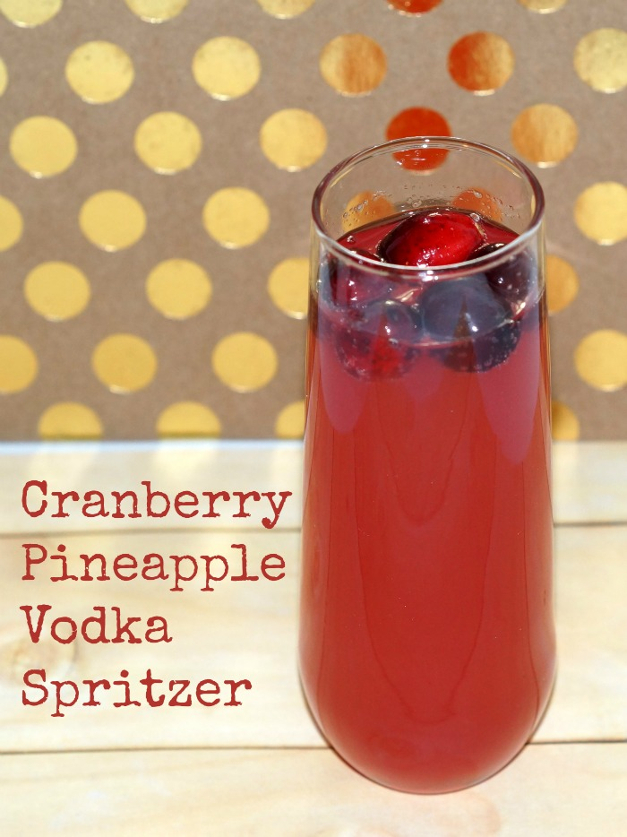 Cranberry Pineapple Vodka Spritzer
