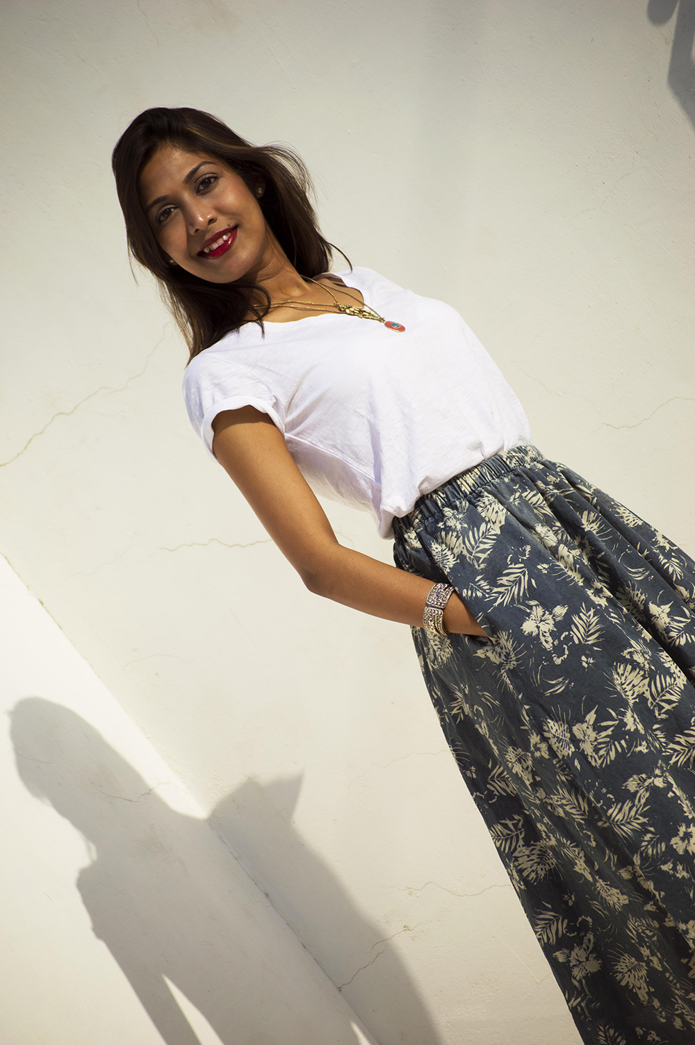 Fashion, Style, Indian Fashion Blogger, Street Style, Summer fashion, printed midi skirt style, Printed denim skirt, photography, style over coffee-2