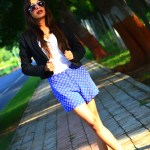 Fashion, Style, Shorts Suit, Fashion photography, Indian Fashion Blogger, Indian Fashion Blog, Aviator Sunglasses, printed Shorts, Black Blazer, Street Style, Street Style Blog, Personal style Photography, Outfit of the day, OOTD