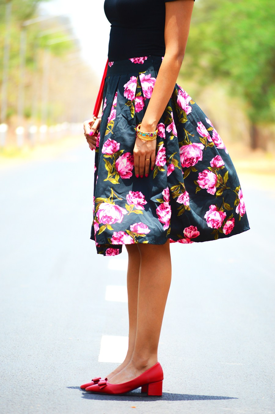 Fashion, Style, Fashion Bloggers, Indian Fashion Blogger, Street Style, Summer Fashion, Floral Midi Skirt, Crop top, Fashion Photography, Bohemian Fashion- 4